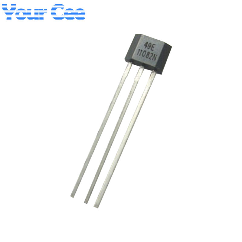 US $0 64 6% OFF|10 pcs 49E Hall Element OH49E SS49E Hall Effect Sensor  Linear Switch-in Integrated Circuits from Electronic Components & Supplies  on