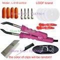 Transporte rápido! 220 v marca loof extensão do cabelo ferro, Acessórios Para o cabelo & Ferramentas, Conector rosa Para extensões de Cabelo
