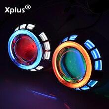 Xplus 55W 3.0HQT 3,0 дюймов фары HID Биксенон проектор фары объектив H1 H4 H7 дьявол ангельские глазки ксенон комплект Двойной CCFL