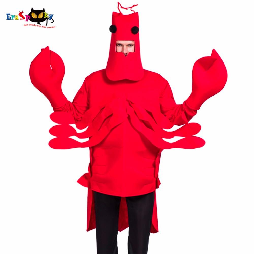 Eraspooky halloween kostuum heren kerst cosplay rode kreeft kostuum - Carnavalskostuums