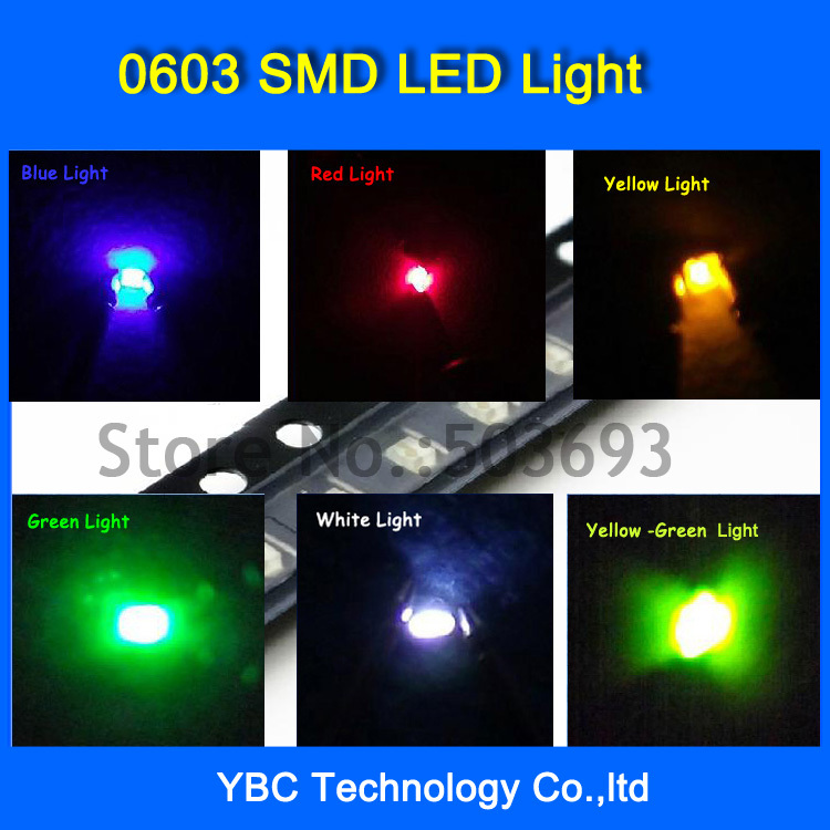 Active Components Fine Wholesale 7colorx20pcs=140pcs Brand New 0603 Led Smd Ultra Bright Red/green/blue/white/yellow/orange/jade Green Led Diode