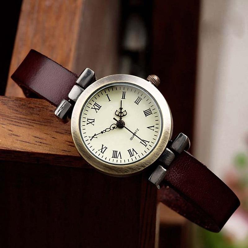 Jauna modes karstā pārdošanas ādas sieviešu pulksteņa ROMA vintage pulksteņu sieviešu kleita 4 krāsās