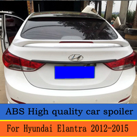 For Hyundai Elantra 2012 to 2015 with brake lights Big Spoiler High quality ABS material Primer or any color Rear wing spoiler
