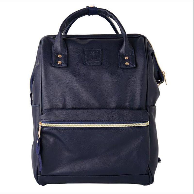 Pu Leather Ring Backpack School Bags For Teenagers Male Anello Backpack Sac A Dos Women Mochila Zaino Rucksack Seljakott #3