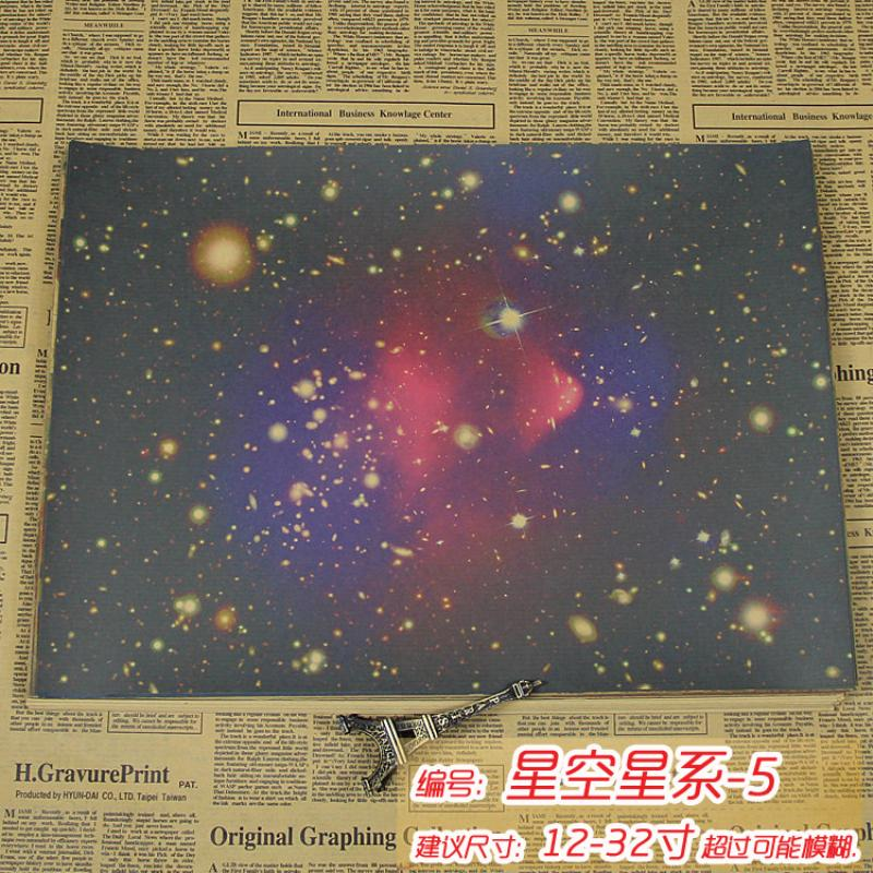 AQ-142 about starry sky vintage poster Retro Kraft paper wall art craft sticker home decoration for kid room sticker free ship