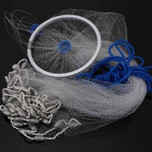 3.2m Nylon Fishing Net Monofilament Fish Trap Fishing Mesh Durable Gill Nets Netting for Hand Casting Pesca