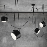 Modern Fashion Bongos Suspension Lamp Nordic DIY Aluminum LOFT Drum Pendant Lights Creative Personality Restaurant Cafe