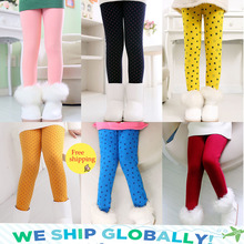 Spring Autumn Winter New Fashion Children's 3-11 Year Cotton Warm Pant Girls KidsTrousers Print Legging