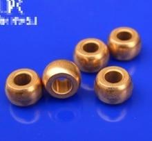 20Pieces/Lot Diameter :2mm Outer Diameter:5mm  Length: 3mm. Powder Metallurgy Pure Copper Micro-spherical Oil Bearing цена