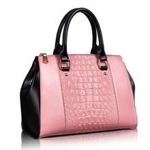Alligator Pattern 2016 New Genuine Leather  Ladies Handbag Brand Cow Leather Shoulder Bag Fashion Handbags