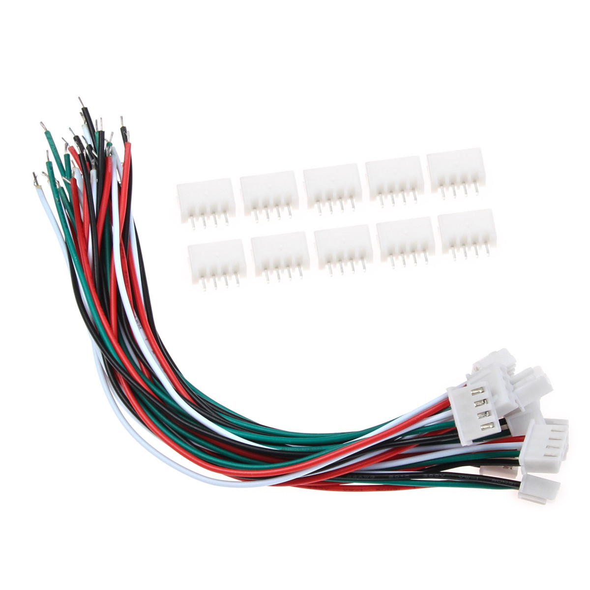 10 Set 4 Pin Connector Plug Mini Micro Wire Cable Pin Connectors JST <font><b>XH</b></font> <font><b>2.54mm</b></font> With 24AWG 1007 Wires 150mm Length Electricity image