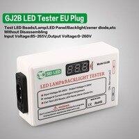 GJ2B Voltage LED LCD TV Screen Backlight Zener Diode Tester Meter Lamp Strip Bead Light Board Test Tool Output 0~260V EU Plug