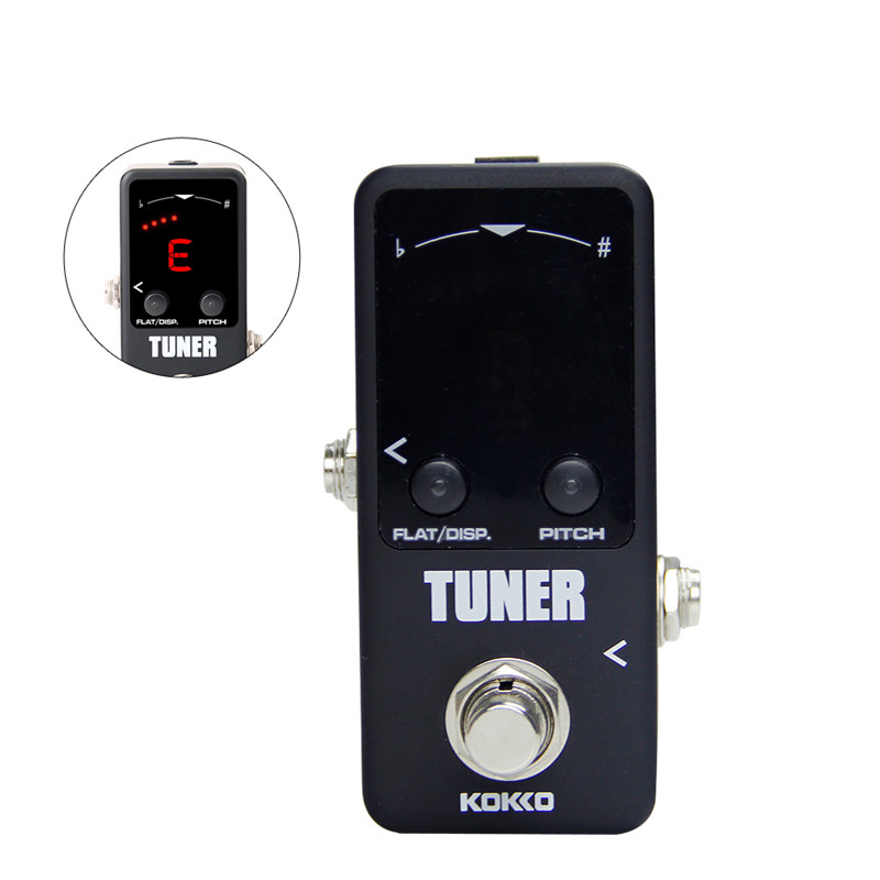 kokko tuner mini electric guitar pedal tuner effect device dual display for guitarra bass guitar. Black Bedroom Furniture Sets. Home Design Ideas