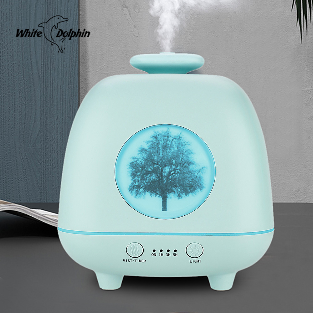 White Dolphin Air Humidifier Essential Oil Diffuser Aromatherapy Air Vaporizer 230ML Ultrasonic Mist Maker Fogger Humidifier
