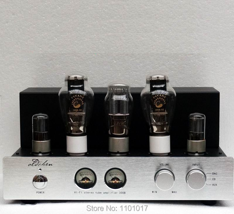 Top Selling OldChen 300B Tube Amplifier HIFI EXQUIS Single-ended Class A Handmade Scaffolding Amp Sliver Version oldbuffalo 300b signal ended tube amplifier hifi exquis black aluminum chassis 4 way lamp amp