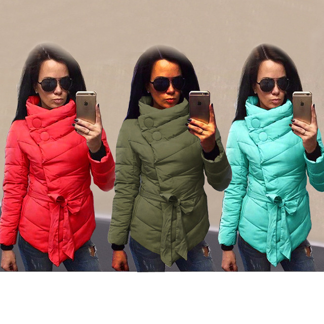 New Winter Women's Jacket Down Coat Female 2016 Autumn Cotton Turtleneck Coats Warm Parka For Women Plus Size XXXL 771