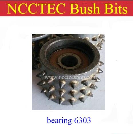 Bush hamer plaat bits lager 6303 GRATIS verzending | Alloy carbide deel voor Litchi graniet oppervlak slijpen verwerking schurende