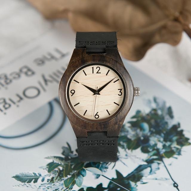 eb18324f3f8 BOBO PÁSSARO Mulheres Relógios Marca de Topo De Bambu De Madeira de Madeira  Do Vintage bayan