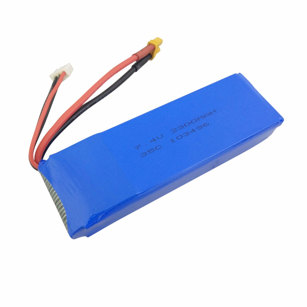 <font><b>7.4V</b></font> <font><b>2300mAh</b></font> Lithium <font><b>Battery</b></font> for MJX B6 B6W B6F B6FD B8 BUGS 6 BUGS 8 Brushless Quadcopter Upgrade Accessories Upgrade <font><b>Battery</b></font> image