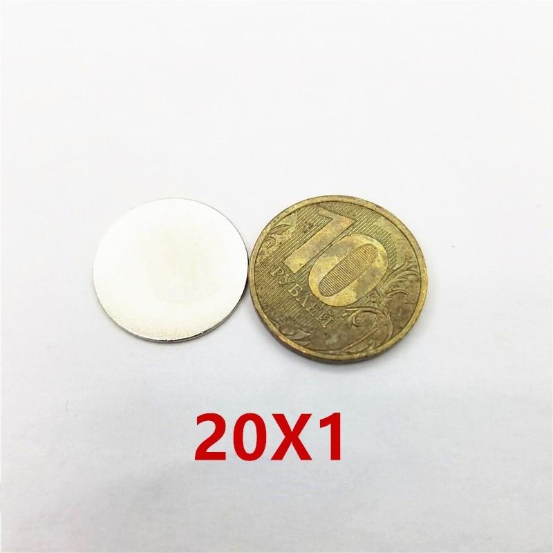 100/200pcs 20x1 Earth Neodymium Magnets 20*1 Magnet 20mm*1mm Round Diameter Magnet Rare 20x1mm 20*1m'm камера велосипедная kenda 761 20x1 1 fv 60l 20 451 20x1
