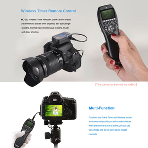 Image 3 - Youpro MC 292 dc0/dc2/n3/s2/e3/e2 2.4g controle remoto sem fio lcd temporizador obturador canais de liberação para canon/sony/nikon/fujifilm