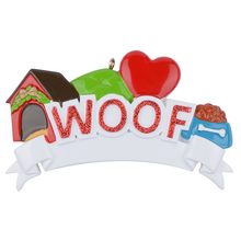 MEOW WOOF Cat Dog Polyresin Personalized Pet Christmas Tree Ornaments For Holiday Keepsake Gift Home Party Decoration