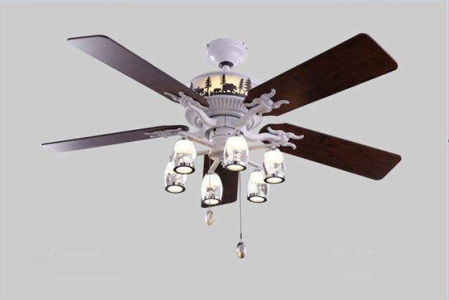 52inch Lamp Ceiling Fan Bedroom Living Room Lamps Restaurant Led Decorative Light With Remote Control