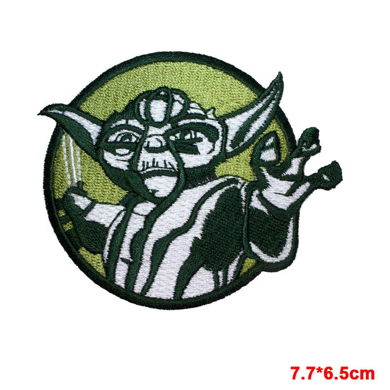 10 PCS New arrive film Lightsaber Yoda Circle Badge Embroidered Iron On Patch Applique Monster