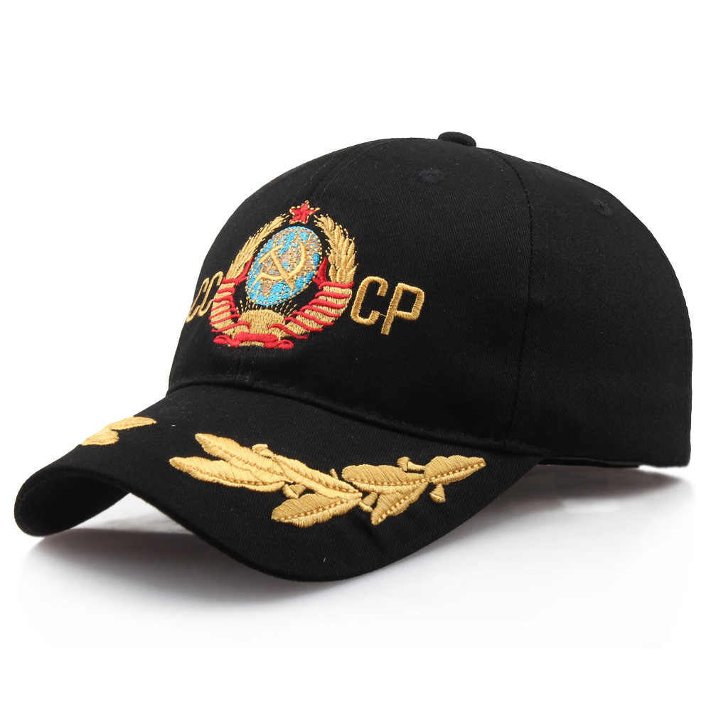 e7fe24d82 Hot Sale CCCP USSR embroidery cap women men Russian Baseball Cap ...