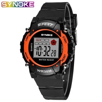 SYNOKE 2019 Fashion Waterproof Children Digital Watches Kids Boy LED Date Sports Alarm Electronic Watch Women's Wrist Clock