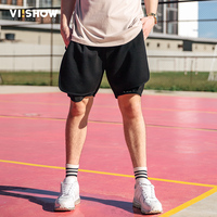 VIISHOW Shorts Men Summer Fashion Mens Shorts Casual Men Fitness Shorts For Men Fake Two Pieces