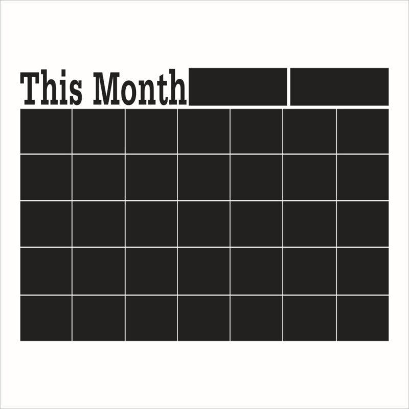 nuevo mes calendario pizarra cepillo vinilo etiqueta de la pared precioso pizarra decalchina