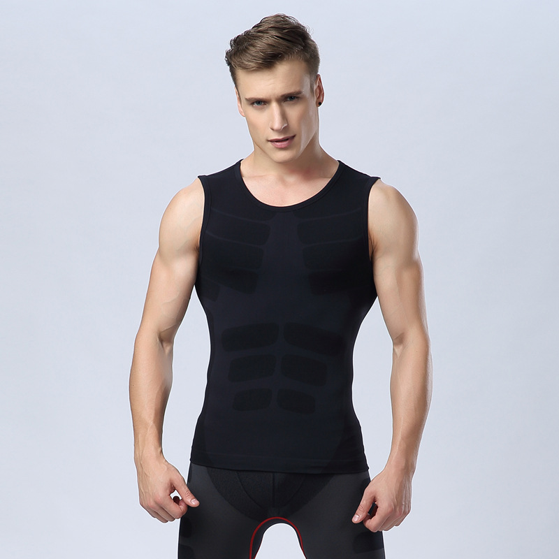 Skeleton muscle fitness   tank     tops   for men compression vest absorb quickly clothing bodybuilding singlets sleeveless tees