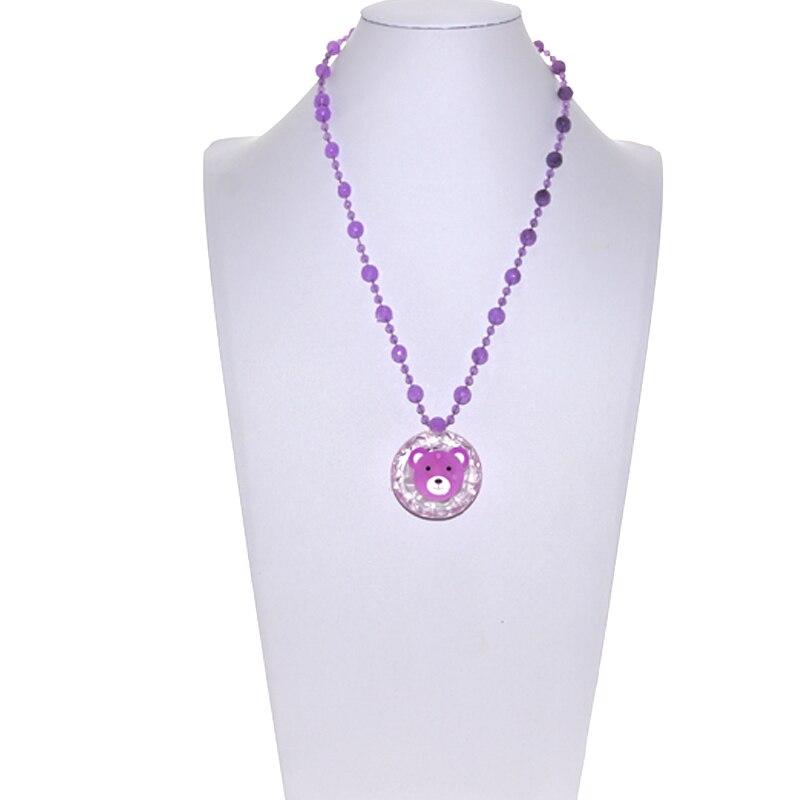 30pcs /lot Light Up Flashing Acrylic luminous necklace Led Necklaces Gift Novelty Toy Weding Birthday Party decor