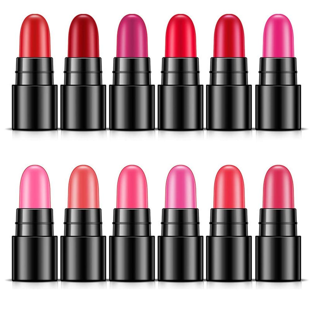 BIOAQUA 12 Colors set Makeup Lipstick Moisturizing Long Lasting Cosmetic Lip Gloss Sexy Waterproof Mini Lipstick Pigment Sample in Lipstick from Beauty Health
