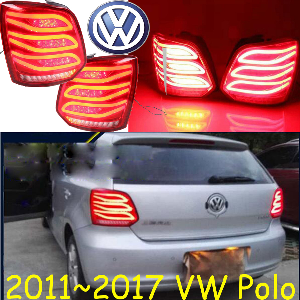 Polo taillight,2011~2013;Free ship!LED,2pcs/set,Polo rear light,Polo fog light;Touareg,passat,Polo popular new polo polo modified gti taillight 11 13 new polo taillight modification