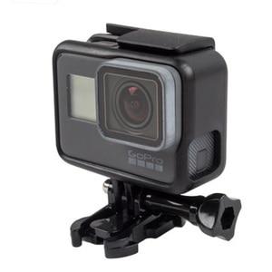 Image 3 - Koruyucu çerçeve kılıf standart açık kabuk + uzun vida + taban montaj GoPro Hero 5 siyah
