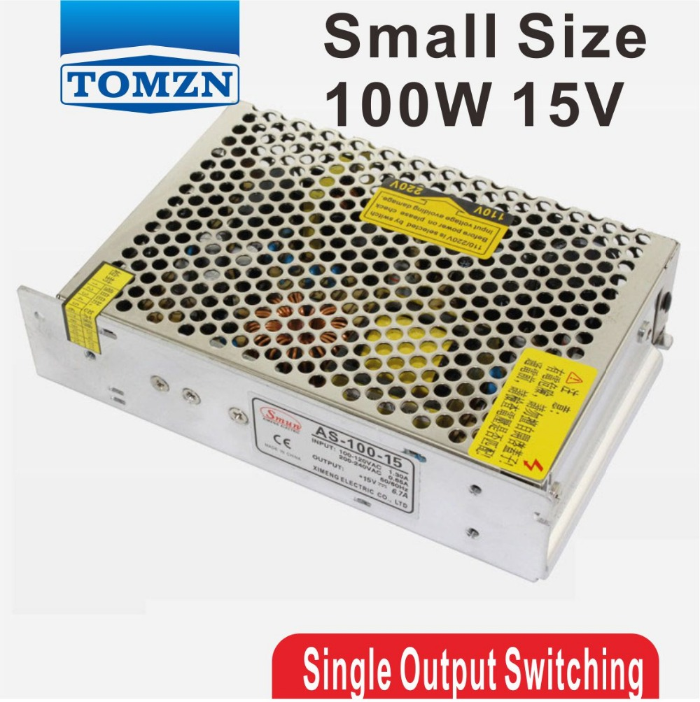 100W 15V Small Volume Single Output Switching power supply CE ROHS single output high quality small volume
