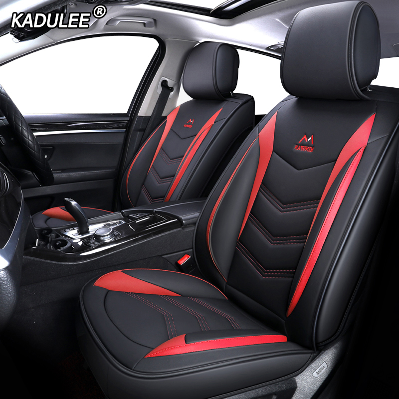 KADULEE Leather car seat cover for ford focus 1 2 mk1 mk3 explorer fiesta mk7 courier