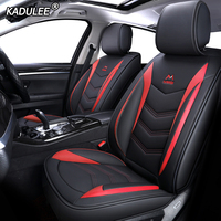 KADULEE Leather car seat cover for ford focus 1 2 mk1 mk3 explorer fiesta mk7 courier kuga mondeo mk3 mk4 cmax figo ranger s max