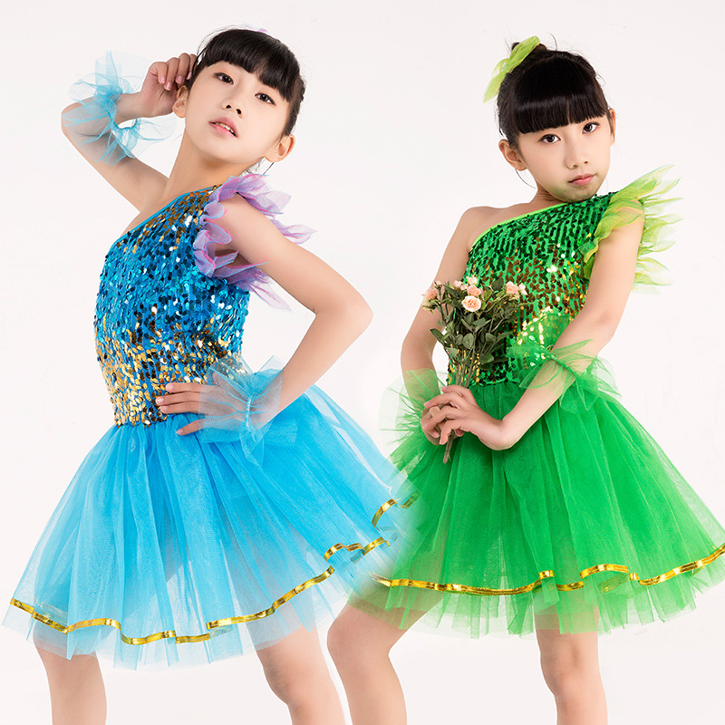 Girls Kids Gymnastics Latin Dress For Girls Dance Leotard Girls Performance Dancewear Party Fancy Costume Cosplay Tutu Dress