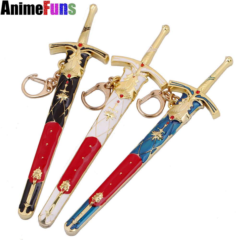 Animation fate/stay night wholesale destiny knife button pledge victory sword model FATE man show keychains 3 colors key chain image