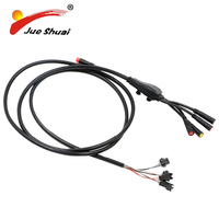 LCD LED Electric Bicycle Main Cable Wire Waterproof Line Controller Display Brake Lever Connector Ebike Accessories Repair Parts