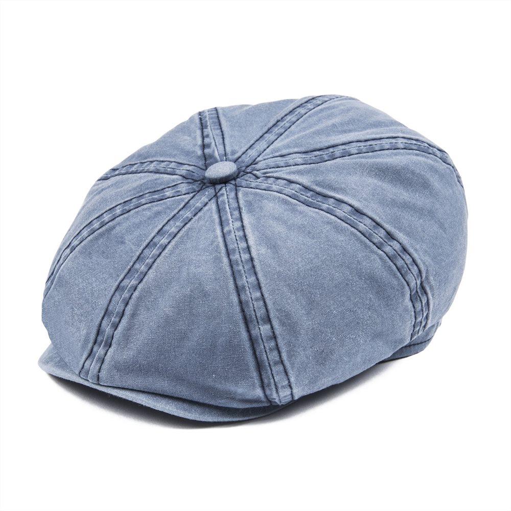 e20ee551471be VOBOOM Navy Blue Cotton Newsboy Cap Men Women 8 Panel Ivy Flat Caps Driver  Baker Boy Hat Sun Protection Gatsby Beret Hats 160