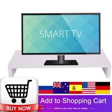 TV Stand Monitor Stand Computer Screen Riser Computer Laptop TV Kit Spray Painting Wooden Desktop Laptop Stand Desk Holder 2018(China)