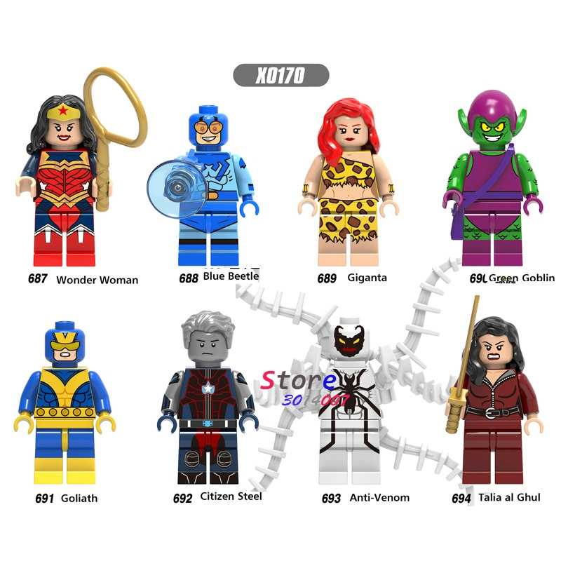 SINGLE Super HERO Talia Al Ghul CITIZEN สีฟ้าด้วง Giganta Wonder Woman VENOM Building Blocks อิฐของเล่นเด็ก