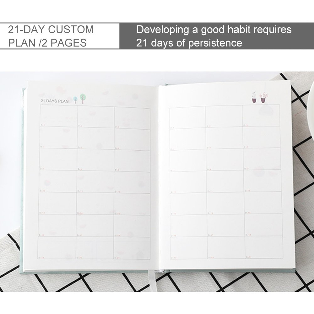 MyLifeUNIT Color inner page Schedule Notebook Planner Animal Fruit Stationery Notebook A5 Life Weekly Monthly Daily Organizer