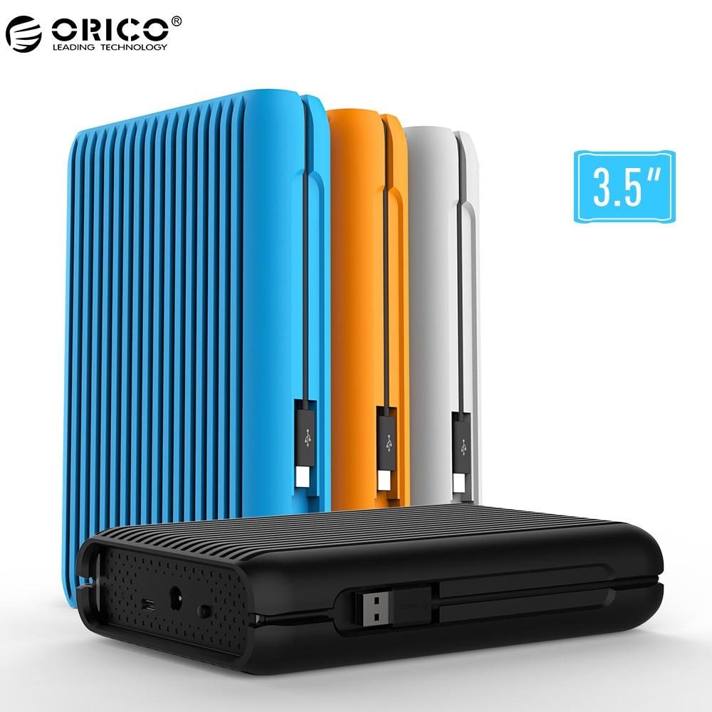 ORICO HDD 1/2/3/4/TB USB3.1 Gen2 TYPE-C 3,5 en 10 Gbps alta velocidad a prueba de golpes a prueba de disco duro externo disco duro de escritorio de disco duro móvil