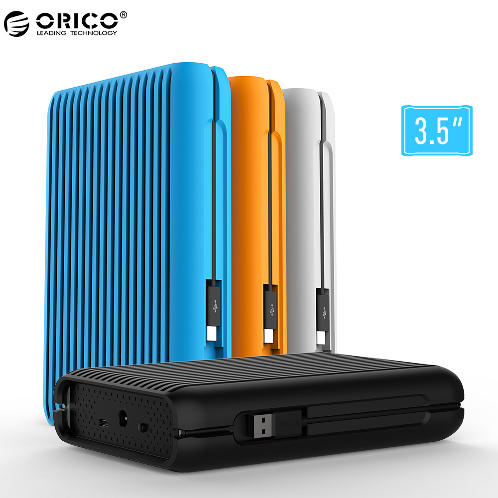 ORICO HDD 1/2/3/4 TO USB3.1 Gen2 TYPE-C 3.5 Dans 10 Gbit/S À Grande vitesse Antichoc Disques Durs Externes De DISQUE DUR Disque Dur Mobile