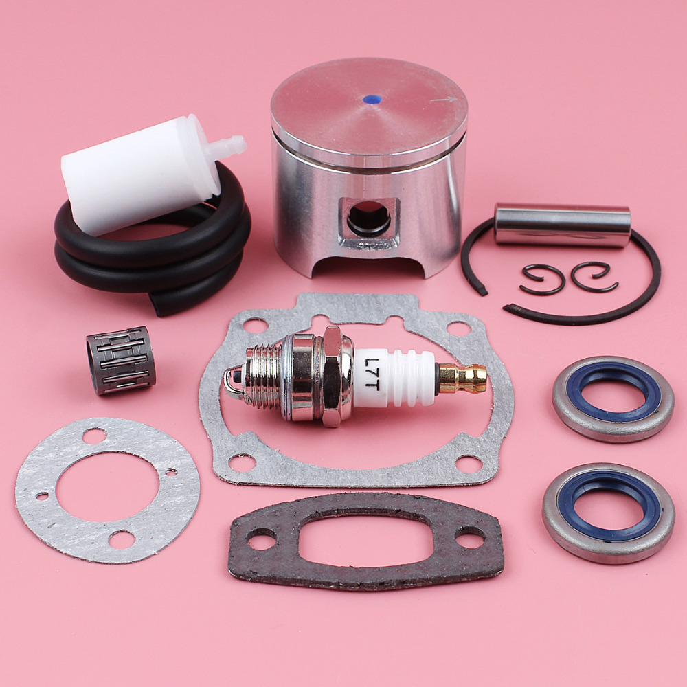 46mm Piston Ring Oil Seal Gasket Fuel Filter Line Bearing Kit For Husqvarna 55 55 Rancher Chainsaw Tool Spare Part